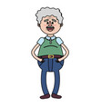 old man with hairstyle design vector image vector image