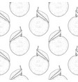 orange hand drawn black and white sketch as vector image vector image