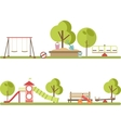 Playground infographic elements vector image vector image