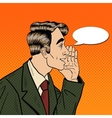 Pop Art Business Man Whispering Secrets vector image vector image