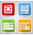 Radio receivers icons vector image vector image