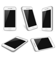 Realistic white smartphone cell phone vector image vector image