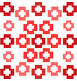 red squares crosses symmetrical pattern abstract vector image