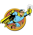 Retro Classic Super Doctor vector image vector image