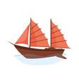 sea sailboats ship water carriage and maritime vector image vector image
