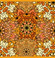 seamless orange artistic exotic beautiful pattern vector image vector image