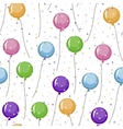 Seamless pattern of colored balloons and colorful vector image vector image