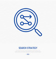 searching strategy thin line icon vector image vector image