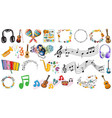 set music instruments vector image vector image