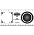 set of decorative frame in vintage style vector image vector image