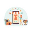 shopping phone magazine present vector image vector image