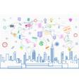 social media communication internet network vector image