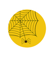 Spider on the web vector image vector image