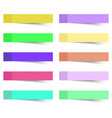sticky notes 10 pcs vector image vector image