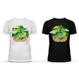 t-shirt with print hands holding earth vector image vector image