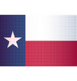 texas state doted flag vector image vector image