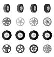 Tire Icon Black vector image
