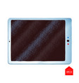 top view of tablet vector image vector image