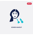 two color women makeup icon from beauty concept vector image