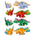 Types of dinosaurs vector image vector image