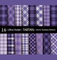 ultra violet set tartan seamless pattern vector image vector image