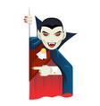 vampire cartoon support help consultation advice vector image vector image