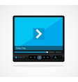 video player skin vector image vector image