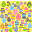 Yellow Easter seamless pattern with eggs vector image