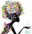 Zodiac sign libra fashion girl vector image vector image