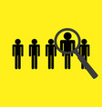 design concept for headhunting vector image