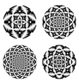 A set of design circle elements vector image vector image