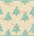 abstract christmas trees wallpaper vector image vector image
