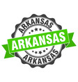 arkansas round ribbon seal vector image vector image