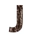 bark letter J vector image vector image