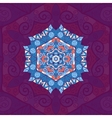 Blue mandala Oriental design over violet vector image vector image