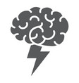 brainstorm glyph icon business and idea creative vector image vector image