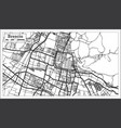 brescia italy city map in retro style outline map vector image vector image