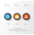 business icons set collection of diagram vector image
