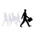 business man walking in street people vector image