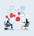 business meeting with speech bubble vector image