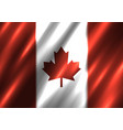 canada national flag background vector image
