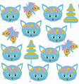 cats kids seamless pattern it is located in vector image vector image