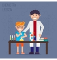 Chemistry laboratory education concept vector image vector image