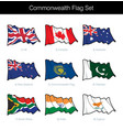 commonwealth waving flag set vector image vector image