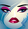 Coquette woman eyes and lips stylish makeup and vector image vector image
