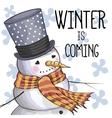 Cute Cartoon Snowman vector image vector image