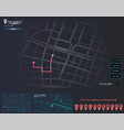 dashboard theme infographic of city map navigation vector image