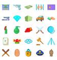 delinquency icons set cartoon style vector image vector image