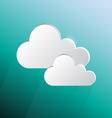 Design speech cloud shape on green blue background vector image