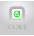 Digital usa election with vote online vector image